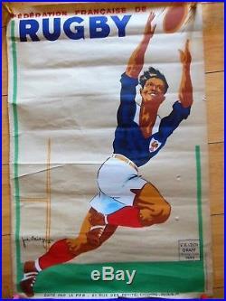 Affiche Litho, Joe Bridge, Federation De Rugby 42