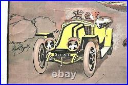Affiche Litho Renault Ax 1908-13 Tzigane Albert Beerts Estampe Sportive Cymbalum