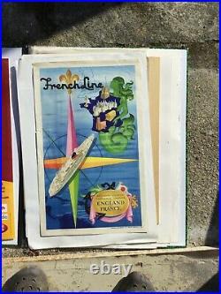 Affiche Lithographique French Line Jean Adrien Mercier