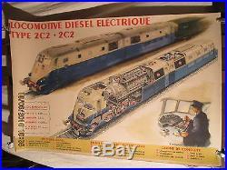 Affiche Locomotive Diesel Sncf