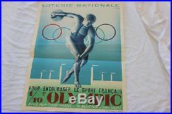 Affiche Loterie Nationale Pour Encourager Le Sport Francais