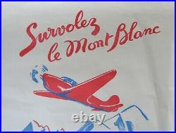 Affiche MONT-BLANC AVIATION Chamonix Megève Saint-Gervais Léman Annecy poster