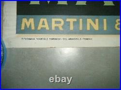Affiche Martini Vermouth Rossi Torino Signee Cappiello Annee 50