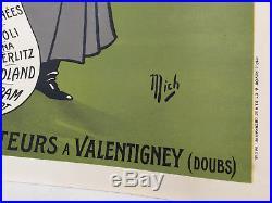 Affiche Mich LIEBAUX- 1907 PEUGEOT NAPOLEON ogé cheret TOUR DE FRANCE