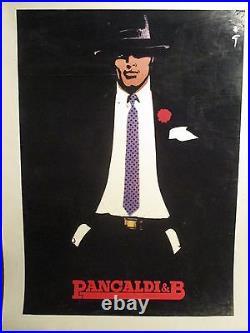 Affiche Mode Homme Pancaldi Gruau Rare Superbe