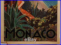 Affiche Monaco Plm E Clerissi Heliochromie Office National Monegasque Z215