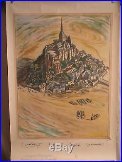 Affiche Mont St Michel Originale Cubiste Matossy