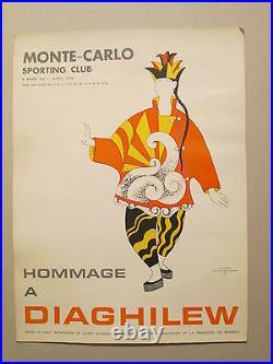 Affiche Monte Carlo Picasso Diaghilew