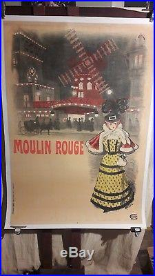 Affiche Moulin Rouge Roedel Rare Superbe 1900