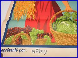 Affiche Mourlot lithographiée ancienne MANON 120x80cm Superbe état