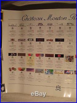 Affiche Mouton Rotschild Etiquettes D'artistes