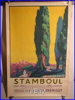 Affiche Operette Stamboul Belle Image Rene Pesle Annees 1925