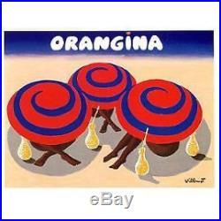 Affiche Orangina Villemot Tres Grand Format 1984