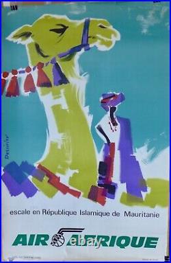 Affiche Originale AIR AFRIQUE Mauritanie par Dessirier