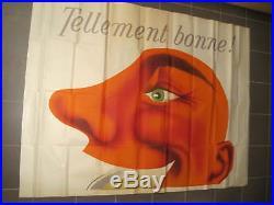 Affiche Originale Ancienne Collection Bornibus Moutarde en 2 panneaux par Foré