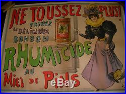 Affiche Originale Ancienne Luc Beguey Rhumicide