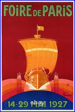 Affiche Originale Art Deco Pierre Commarmond Foire de Paris CCIP 1927