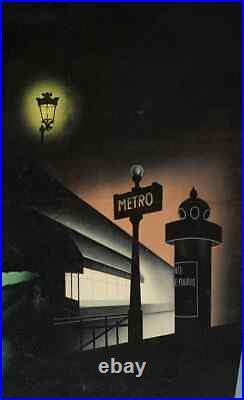 Affiche Originale Badia Vilato Théâtre des Variétés Maurice Chevalier 1950