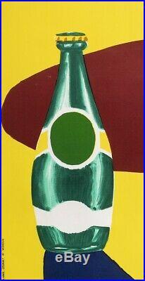 Affiche Originale Bernard Villemot Perrier Fou de Soif Orangina 1980