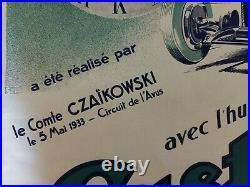 Affiche Originale Castrol Bugatti