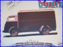 Affiche Originale Citroen C4 C6 Duriez Carrosserie 1946 Jouet Jrd Cij Dinky Toy