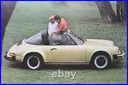 Affiche Originale Concession Garage Porsche France 911 Sc Targa