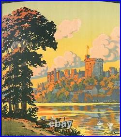 Affiche Originale Contant Duval Paris Londres Brighton Angleterre 1913