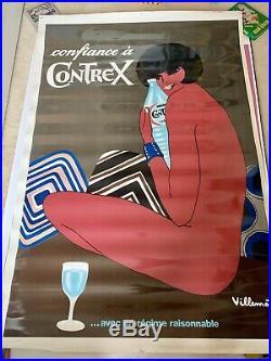 Affiche Originale Contrex Bernard Villemot