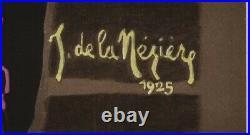 Affiche Originale De la Nezière Le Puy en Velay Compostelle Auvergne 1925