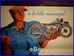 Affiche Originale Favor Cycles Motos Bellenger 1937 60cm X 40cm Poster