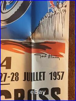 Affiche Originale Geo Ham Moto Cross International 1957 Bsa Gold Star Victor