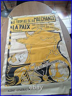 Affiche Originale Henri Oziouls Tour De France 1954