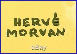 Affiche Originale Hervé Morvan Tilt'O Stylo JIF Billard Pool 1959