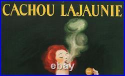 Affiche Originale L. Cappiello Cachou Lajaunie Reglisse Cigarette 1920