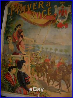Affiche Originale L'hiver A Nice