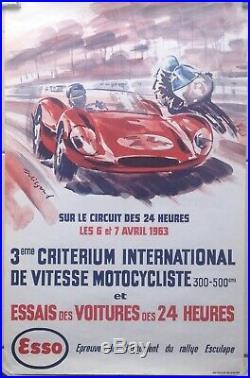 Affiche Originale Le Mans 1963