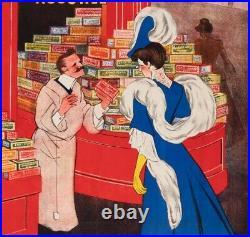Affiche Originale Leonetto Cappiello Biscuits Pernot PAC Dijon 1905