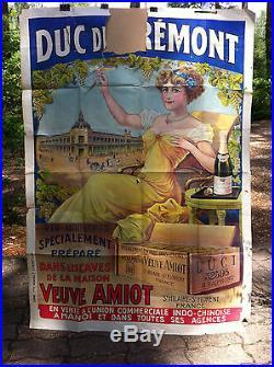 Affiche Originale Lithographiée Veuve AMIOT Hanoï INDOCHINE
