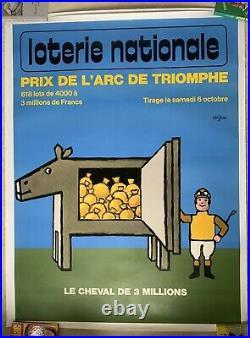 Affiche Originale Loterie Nationale 1973 Raymond Savignac