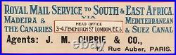 Affiche Originale M. Randall Union Castle Line Cap Town Croisière 1920