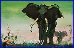 Affiche Originale Otto Nielsen Africa by SAS Aviation Scandinave 1960