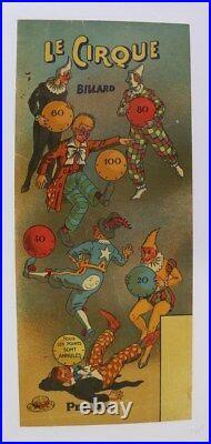 Affiche Originale Poster Circus Cirque Jeu Billard Litho