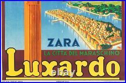 Affiche Originale Raverta Luxardo Maraschino Zara Croatie Liqueur 1939
