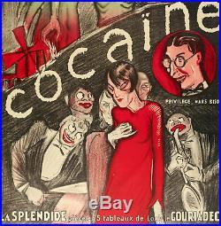 Affiche Originale René Gaillard Cocaïne Moulin Rouge Sacré Coeur 1926