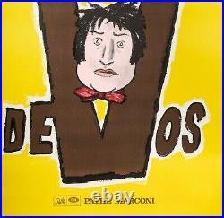 Affiche Originale Savignac Devos Pathé Marconi Vinyle Humouriste -1968