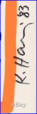 Affiche Originale Signée Keith Haring Pop Art Street Art Graffiti 1983