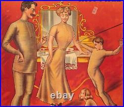 Affiche Originale Sous vêtement Docteur Rasurel Maillot de bain Agrès 1910