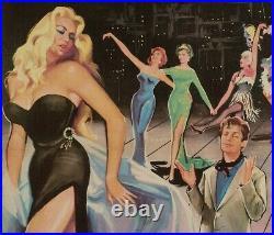 Affiche Originale Y. Thos La Douceur de Vivre La Dolce Vita Fellini -1960