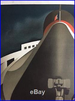 Affiche PAQUEBOT NORMANDIE Transatlantique French Line CASSANDRE 1979