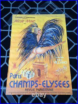 Affiche PARIS CHAMPS-ELYSEES Revue Parisienne